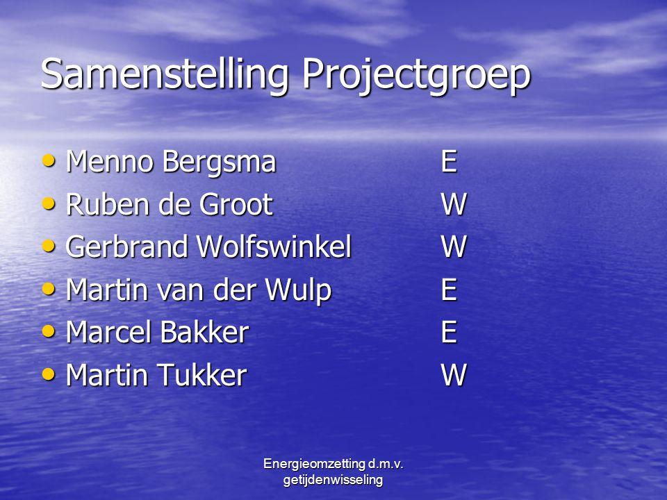 Samenstelling Projectgroep