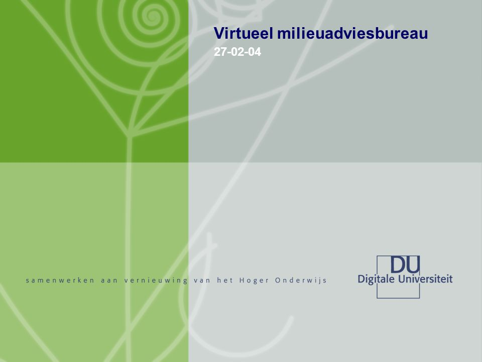 Virtueel milieuadviesbureau 27-02-04