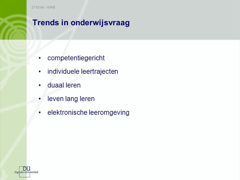 Trends in onderwijsvraag
