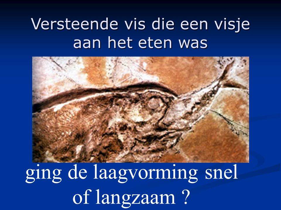 ging de laagvorming snel of langzaam