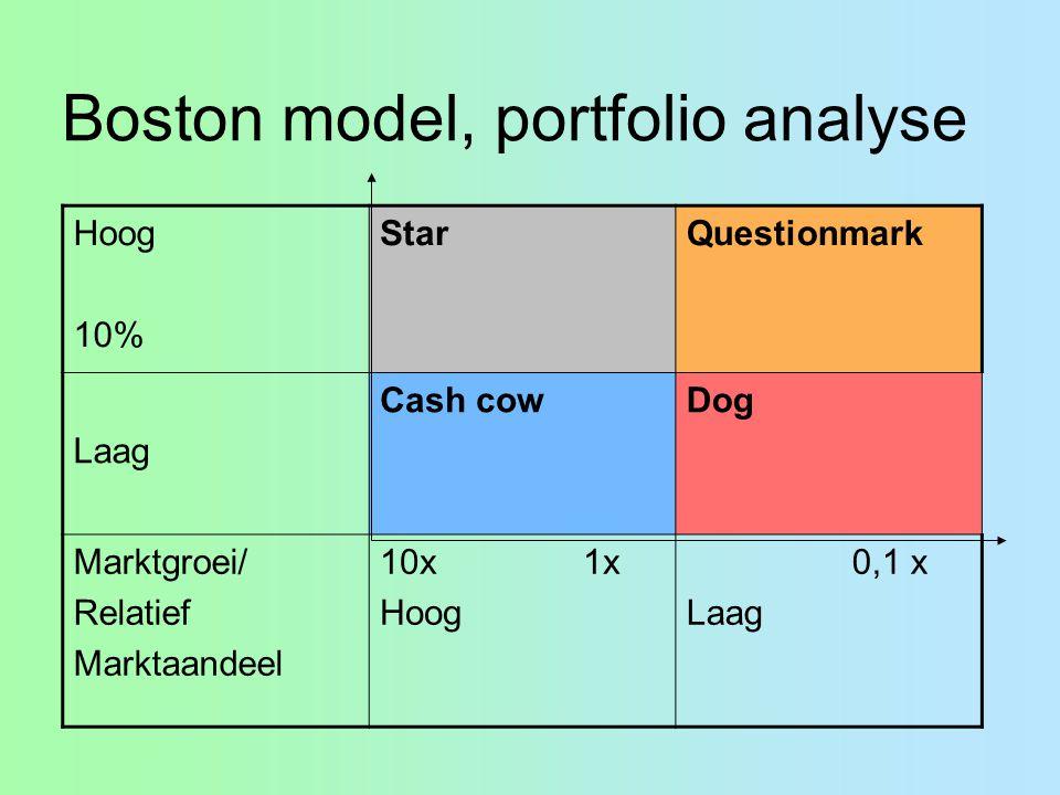 Boston model, portfolio analyse