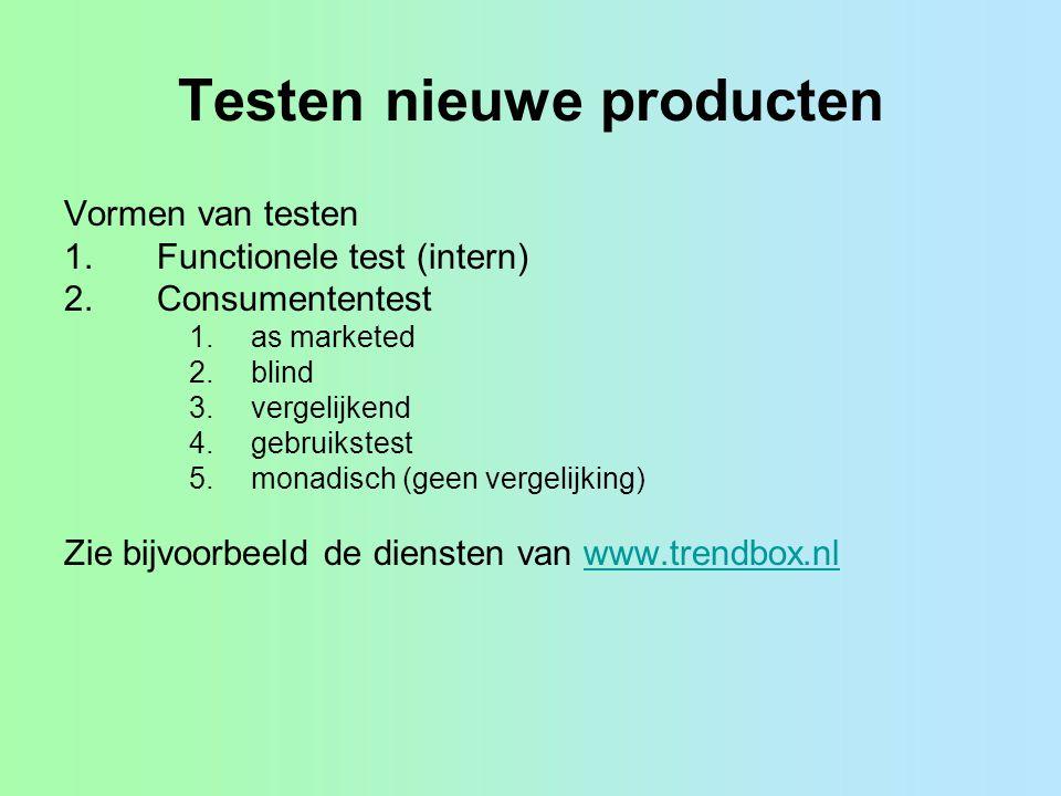Testen nieuwe producten