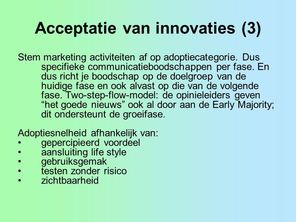 Acceptatie van innovaties (3)