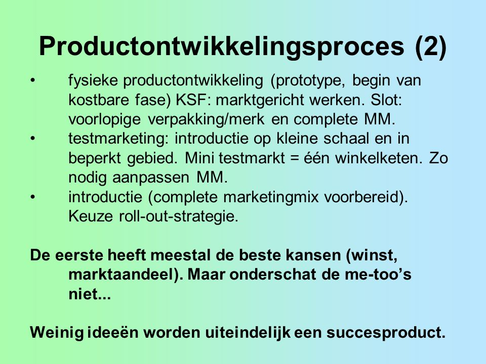 Productontwikkelingsproces (2)