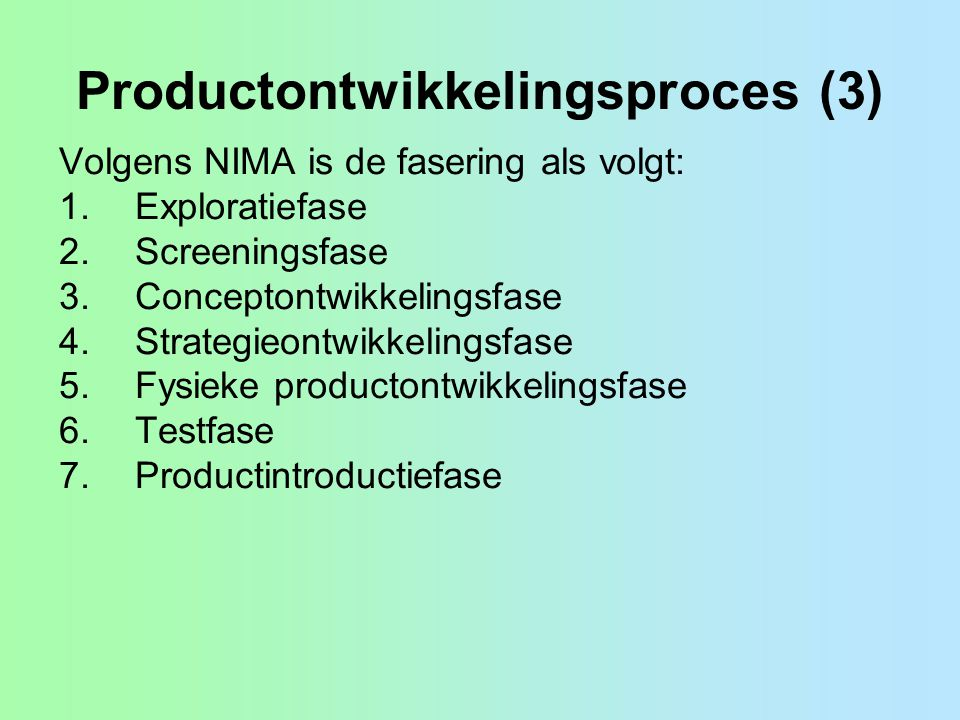 Productontwikkelingsproces (3)