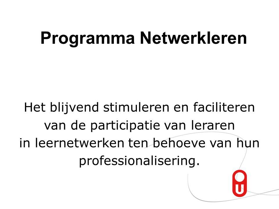 Programma Netwerkleren