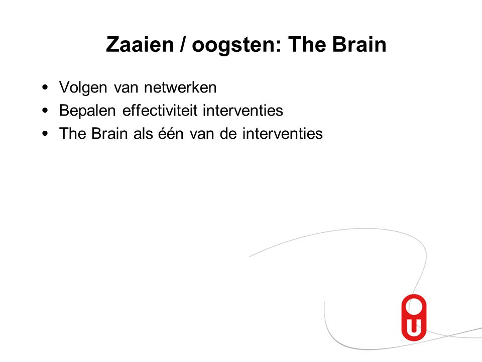 Zaaien / oogsten: The Brain