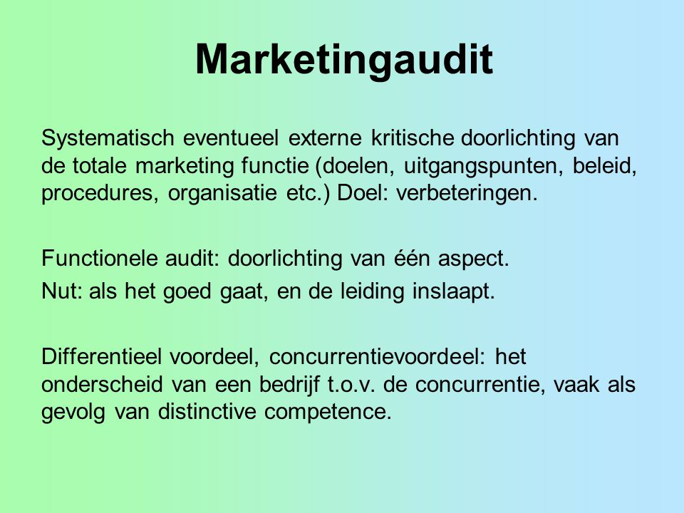 Marketingaudit