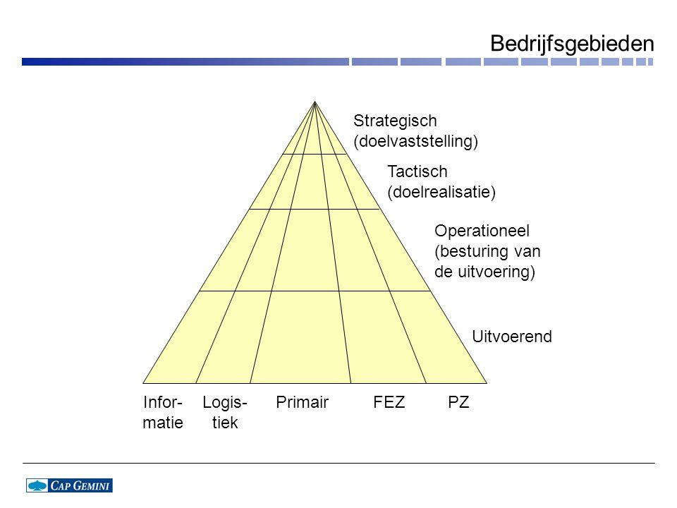 Bedrijfsgebieden Strategisch (doelvaststelling) Tactisch