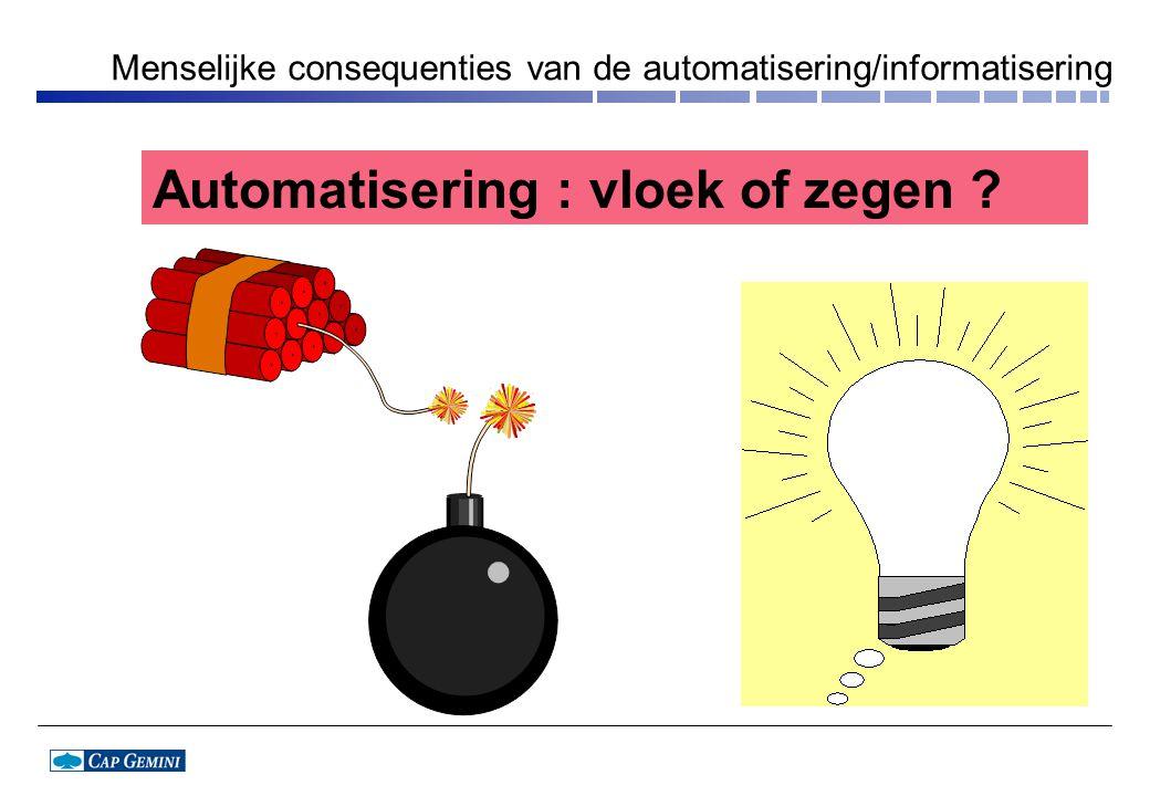 Menselijke consequenties van de automatisering/informatisering