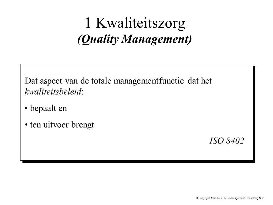 1 Kwaliteitszorg (Quality Management)