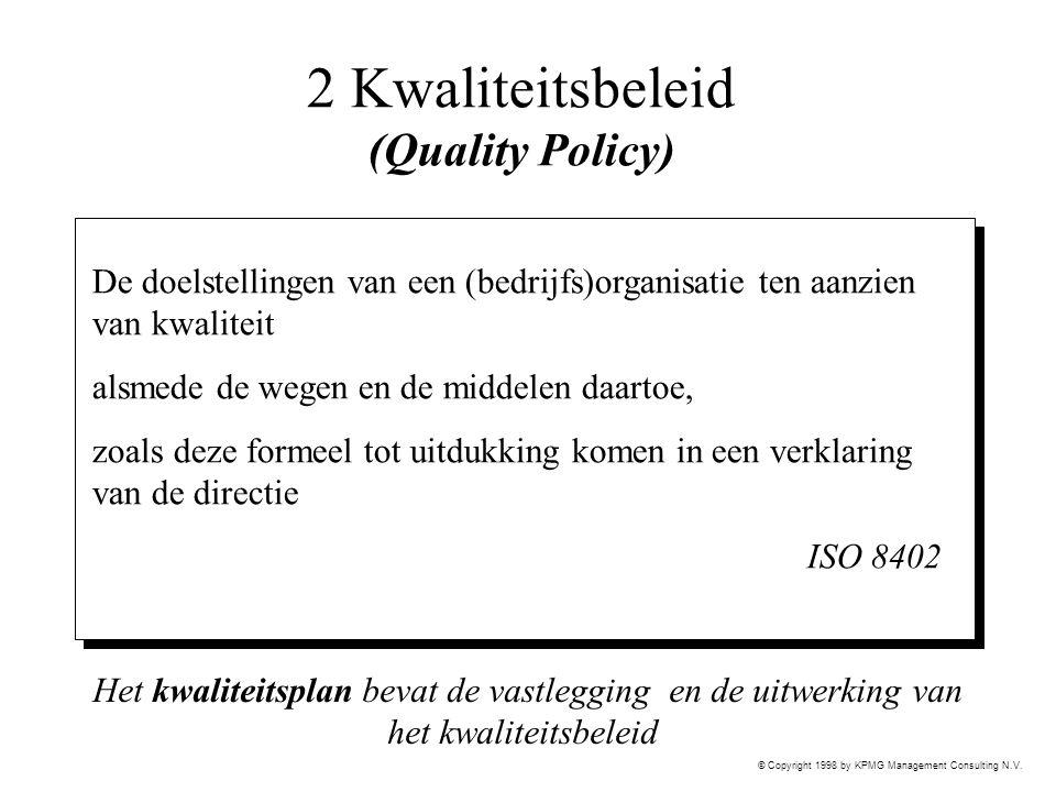 2 Kwaliteitsbeleid (Quality Policy)