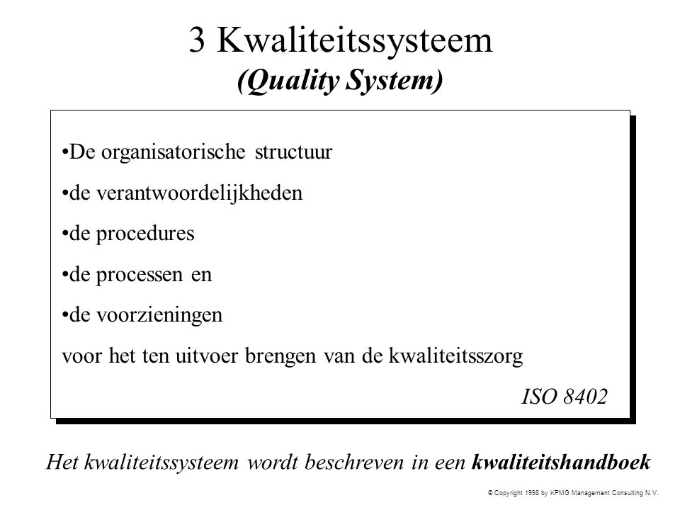 3 Kwaliteitssysteem (Quality System)