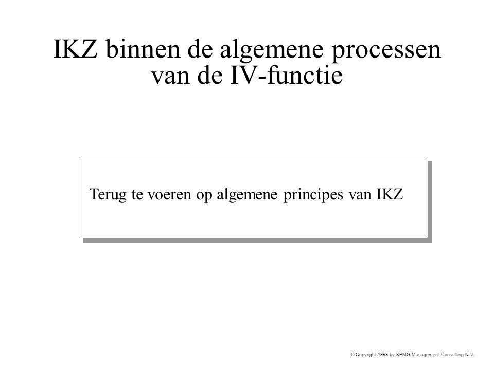 IKZ binnen de algemene processen van de IV-functie