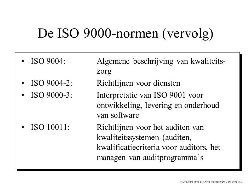 De ISO 9000-normen (vervolg)