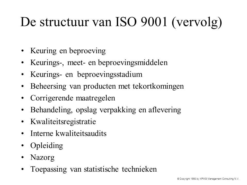 De structuur van ISO 9001 (vervolg)