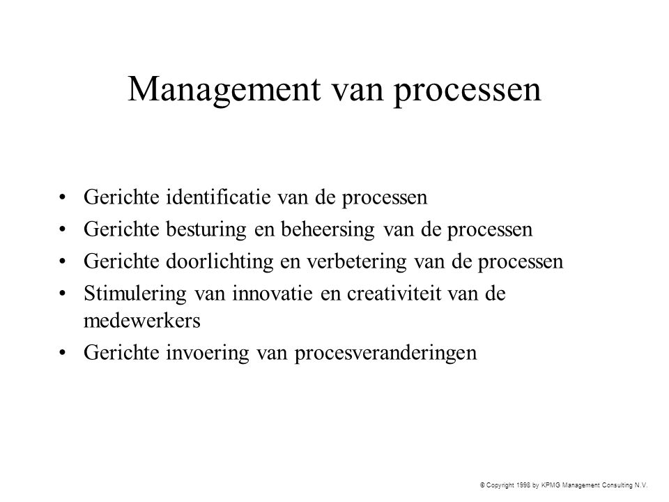 Management van processen