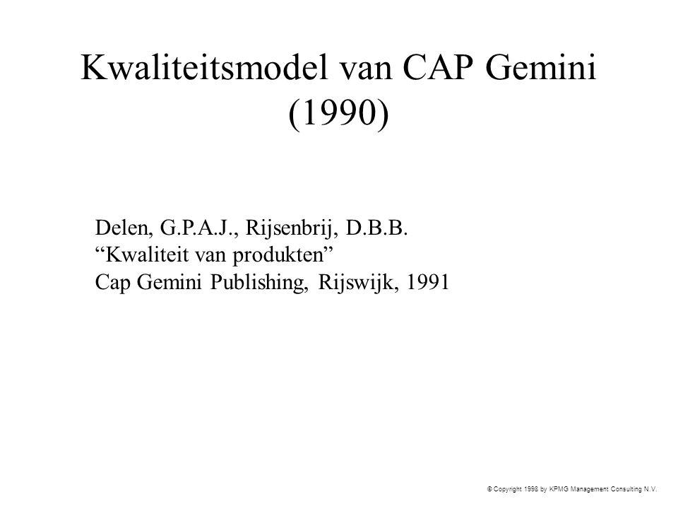 Kwaliteitsmodel van CAP Gemini (1990)