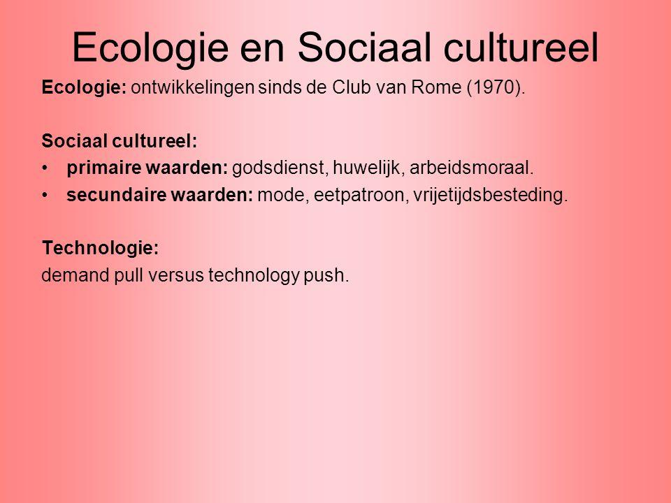 Ecologie en Sociaal cultureel