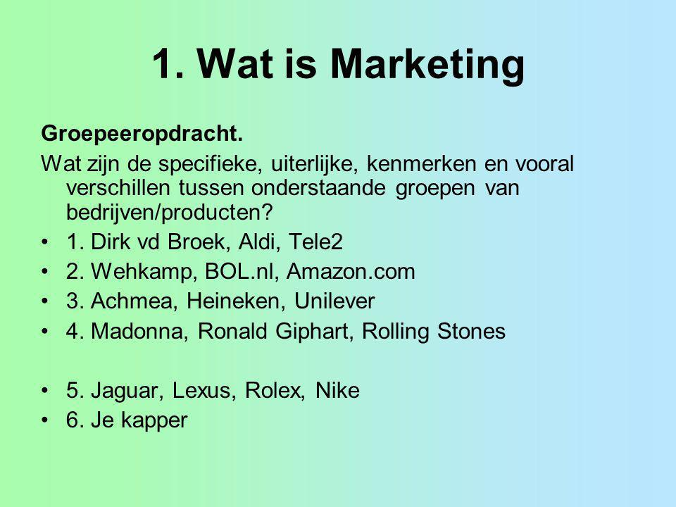 1. Wat is Marketing Groepeeropdracht.