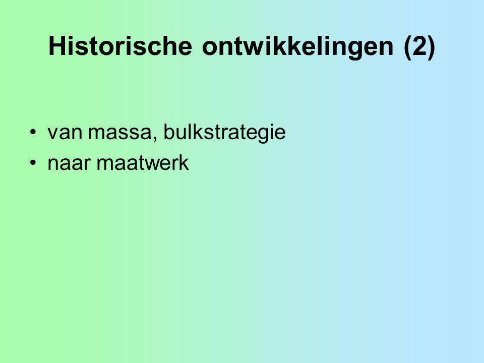 Historische ontwikkelingen (2)
