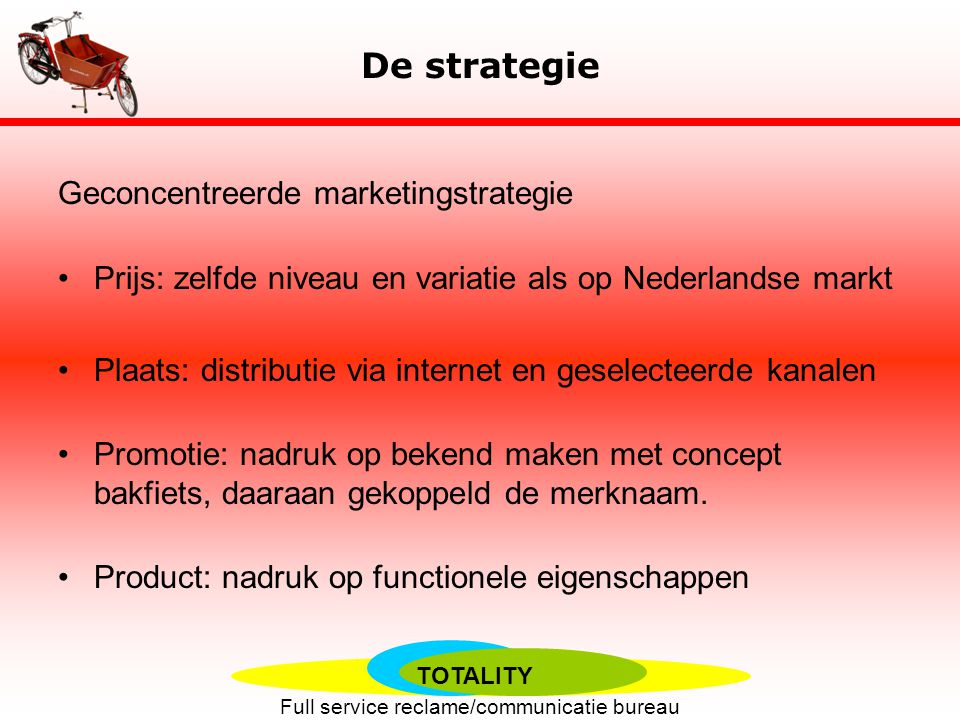 De strategie Geconcentreerde marketingstrategie