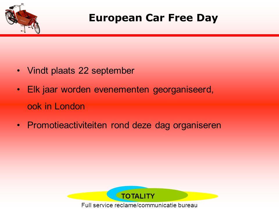 European Car Free Day Vindt plaats 22 september