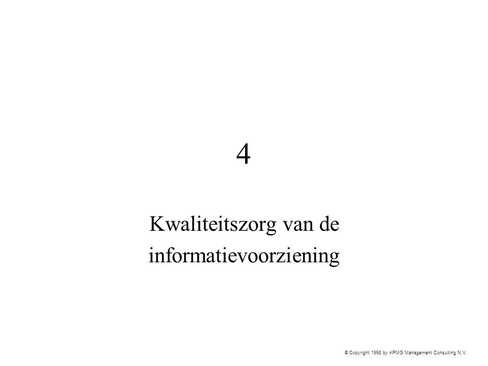 Kwaliteitszorg van de informatievoorziening