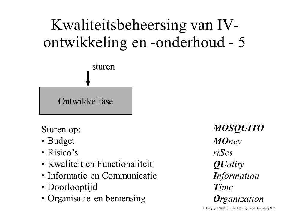 Kwaliteitsbeheersing van IV-ontwikkeling en -onderhoud - 5