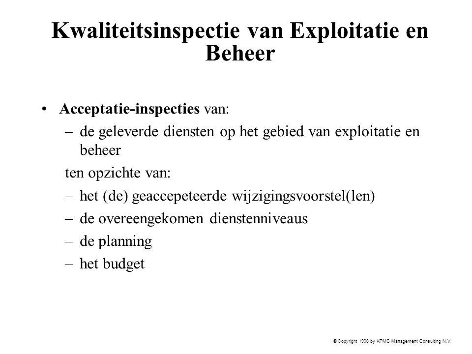 Kwaliteitsinspectie van Exploitatie en Beheer