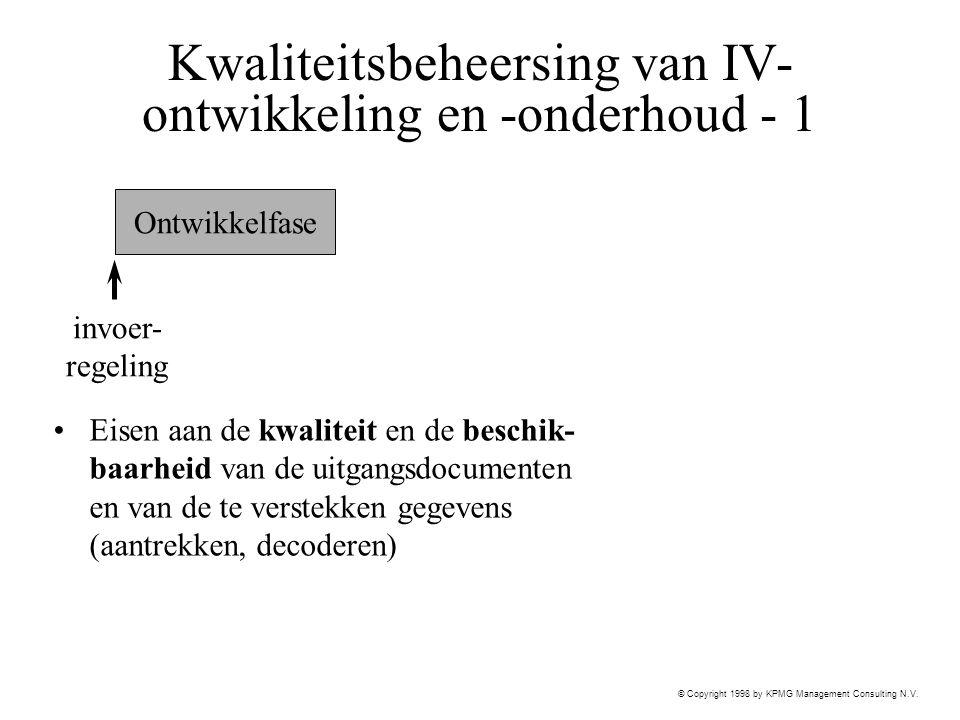 Kwaliteitsbeheersing van IV-ontwikkeling en -onderhoud - 1
