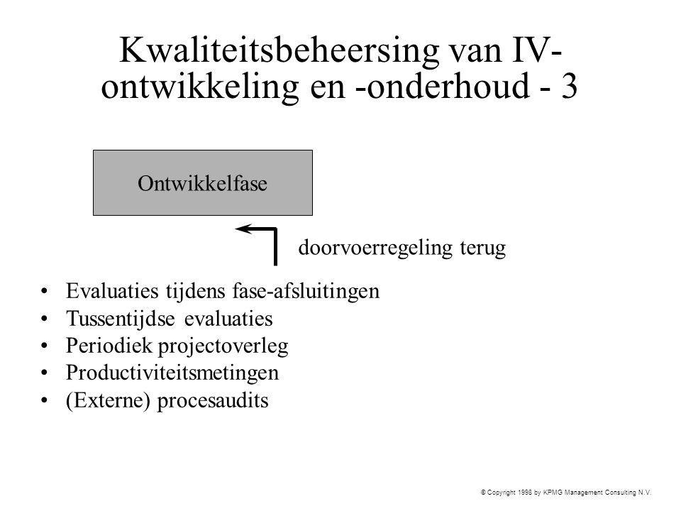Kwaliteitsbeheersing van IV-ontwikkeling en -onderhoud - 3