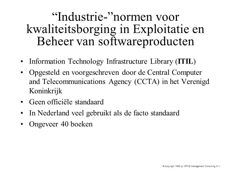 Industrie- normen voor kwaliteitsborging in Exploitatie en Beheer van softwareproducten