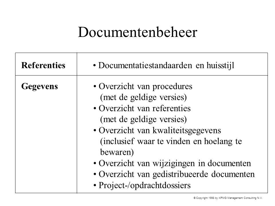 Documentenbeheer Referenties Documentatiestandaarden en huisstijl