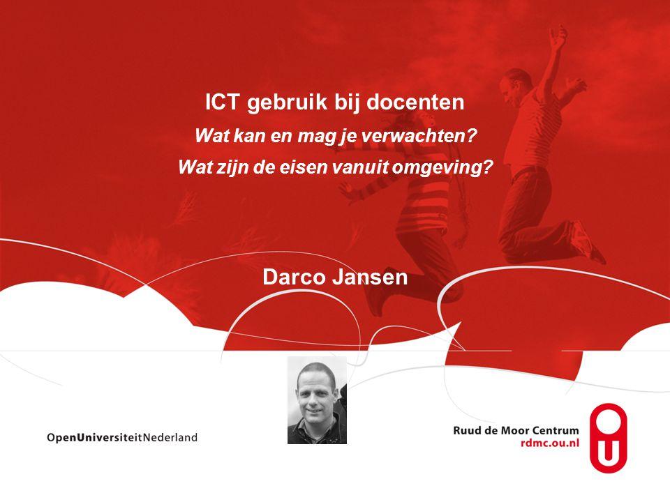 ICT gebruik bij docenten Darco Jansen