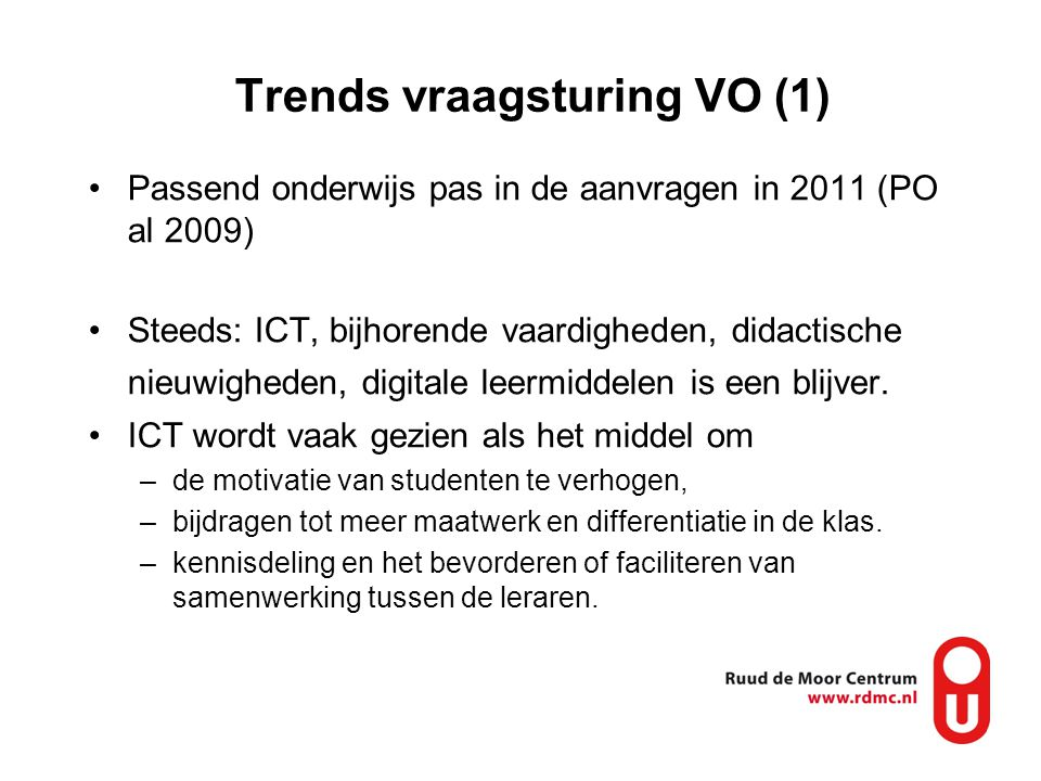Trends vraagsturing VO (1)