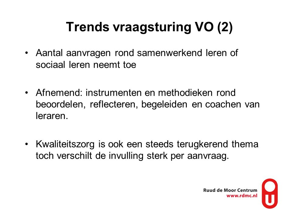 Trends vraagsturing VO (2)
