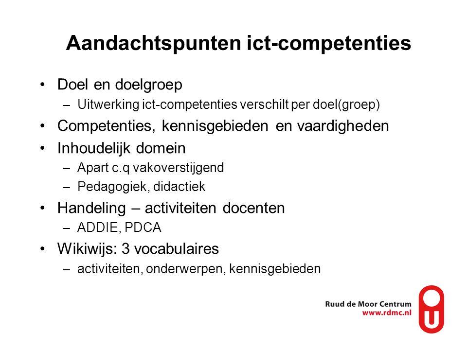 Aandachtspunten ict-competenties