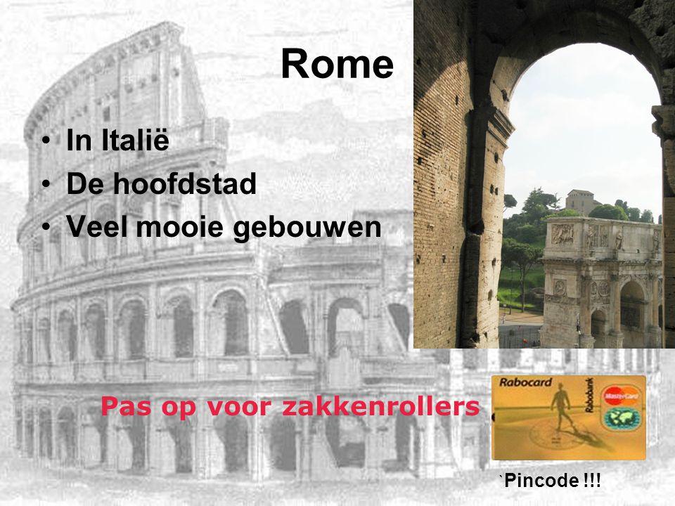 Rome In Italië De hoofdstad Veel mooie gebouwen