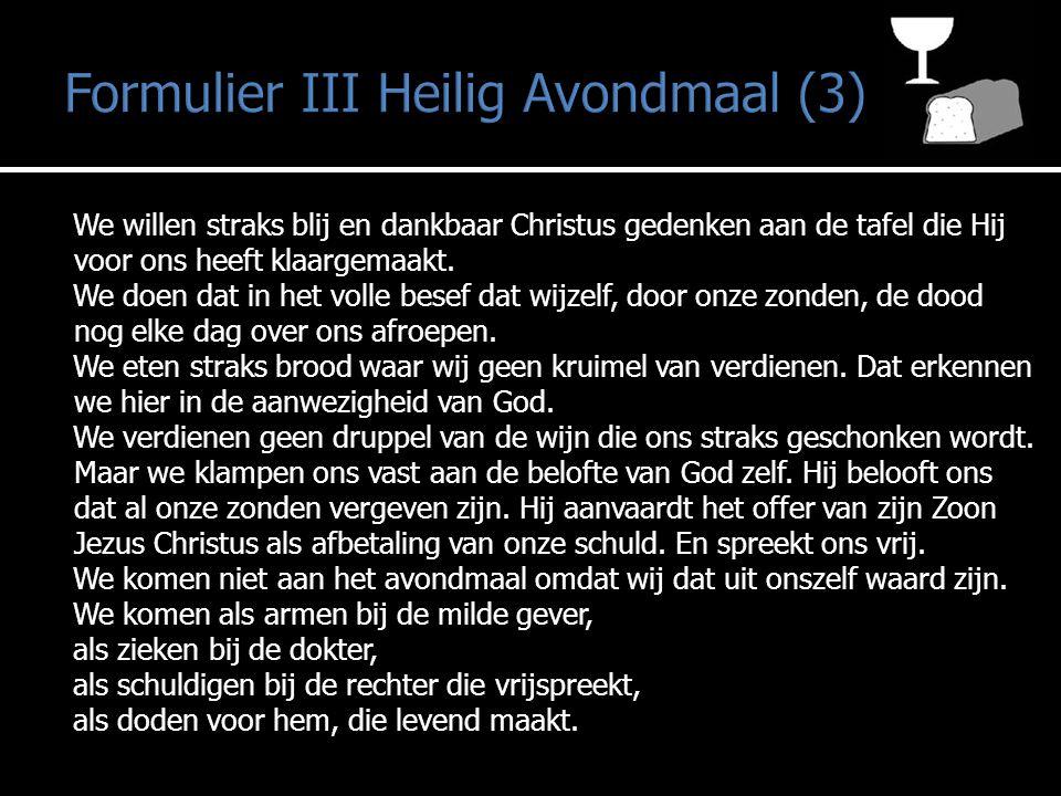 Formulier III Heilig Avondmaal (3)