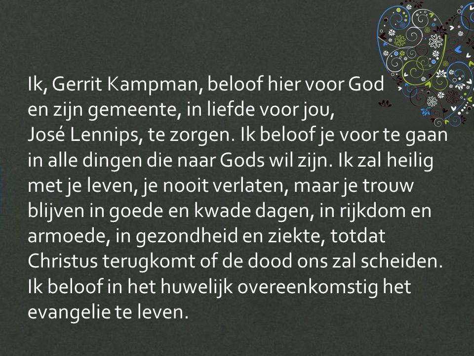 Ik, Gerrit Kampman, beloof hier voor God