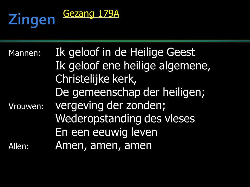 Zingen Ik geloof ene heilige algemene, Christelijke kerk,