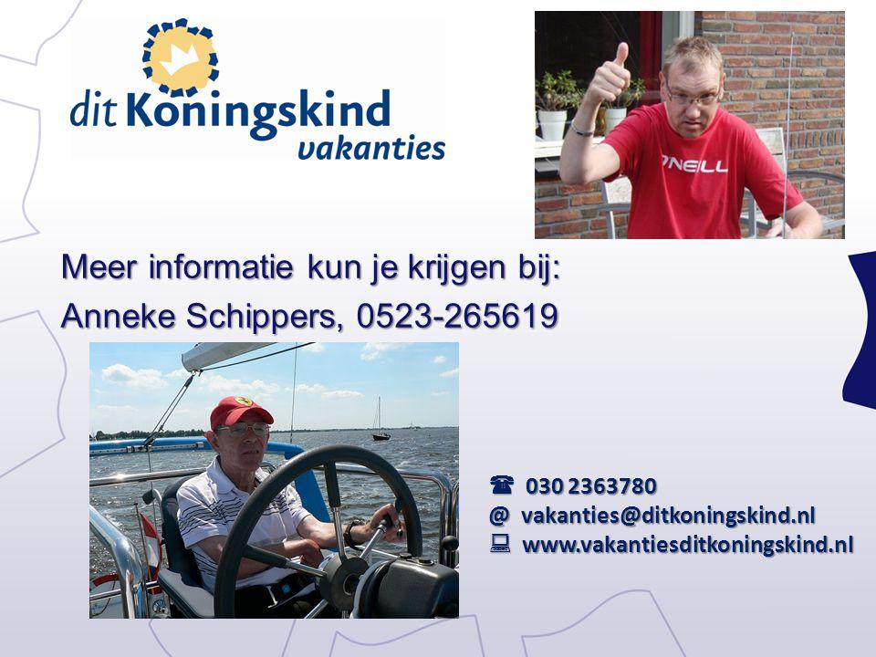 Meer informatie kun je krijgen bij: Anneke Schippers, 0523-265619