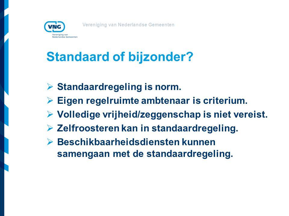 Standaard of bijzonder