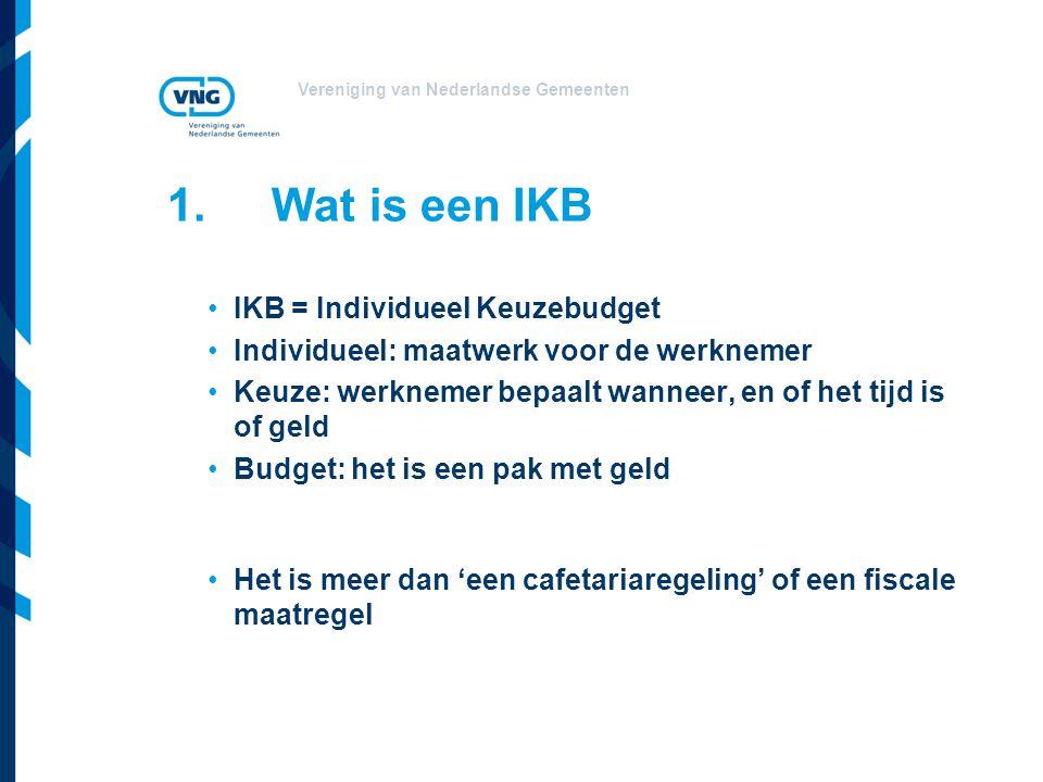 1. Wat is een IKB IKB = Individueel Keuzebudget