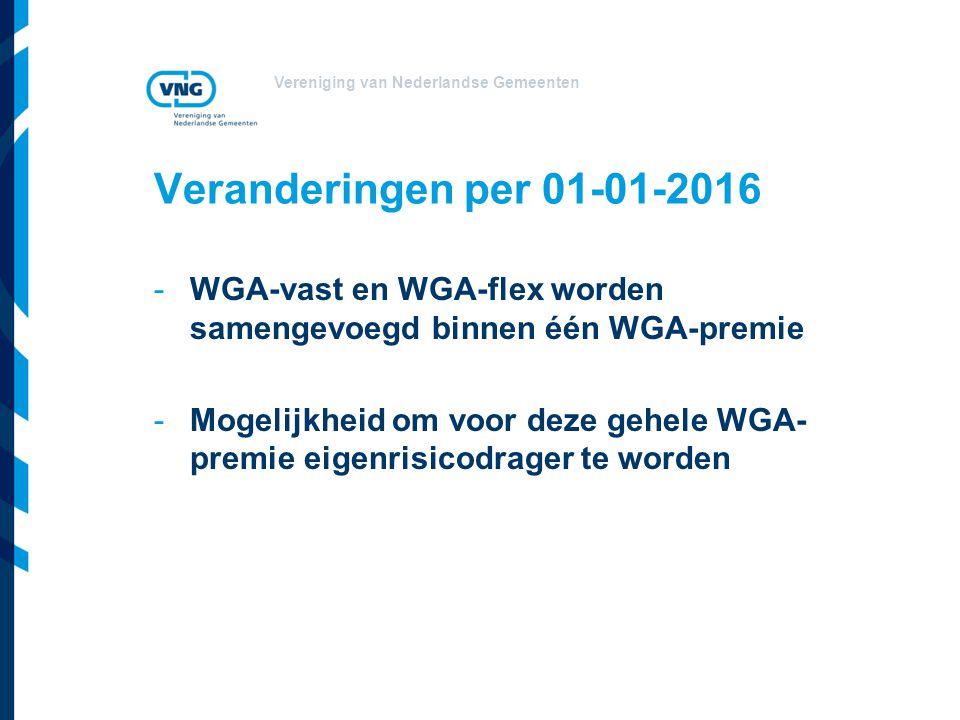 Veranderingen per 01-01-2016 WGA-vast en WGA-flex worden samengevoegd binnen één WGA-premie.