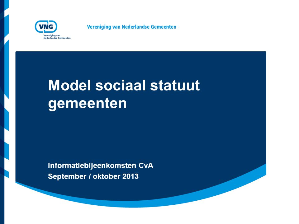 Model sociaal statuut gemeenten