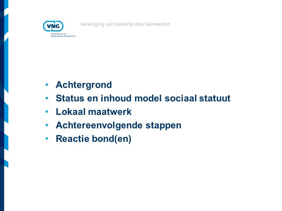 Achtergrond Status en inhoud model sociaal statuut.