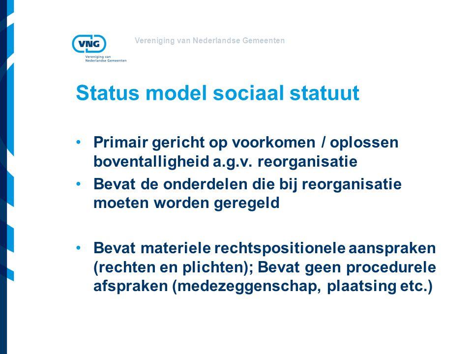 Status model sociaal statuut