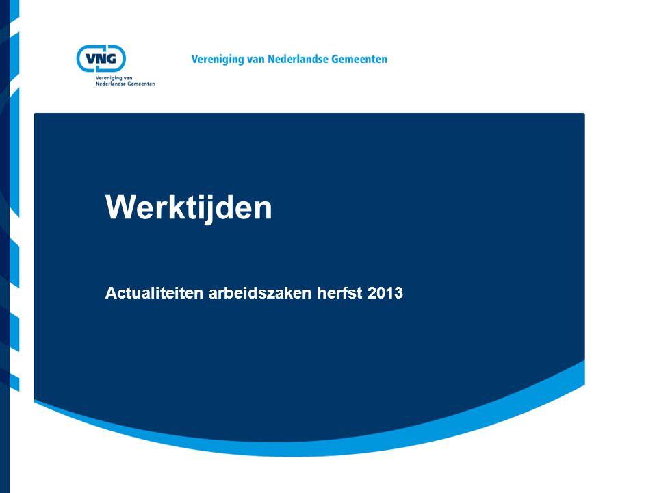 Actualiteiten arbeidszaken herfst 2013